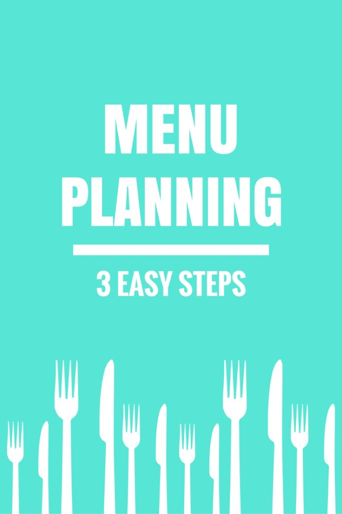 Menu Planning - 3 Easy Steps