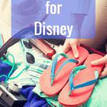 Packing for Disney