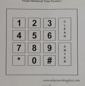 Lunch Keypad