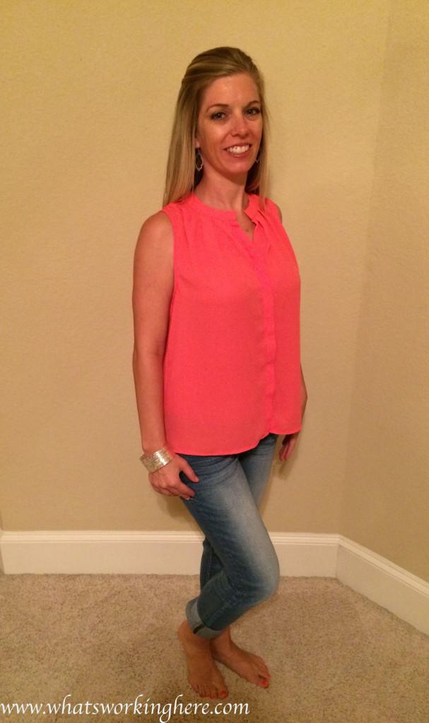 esten button up sleeveless blouse