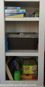Playroom Game Shelf
