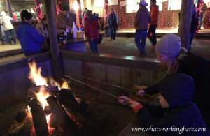 Santa's Wonderland- Roasting hot dogs