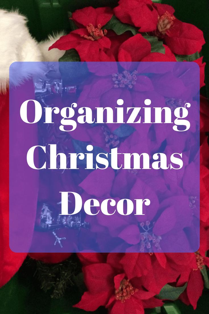 Organizing Christmas Decor