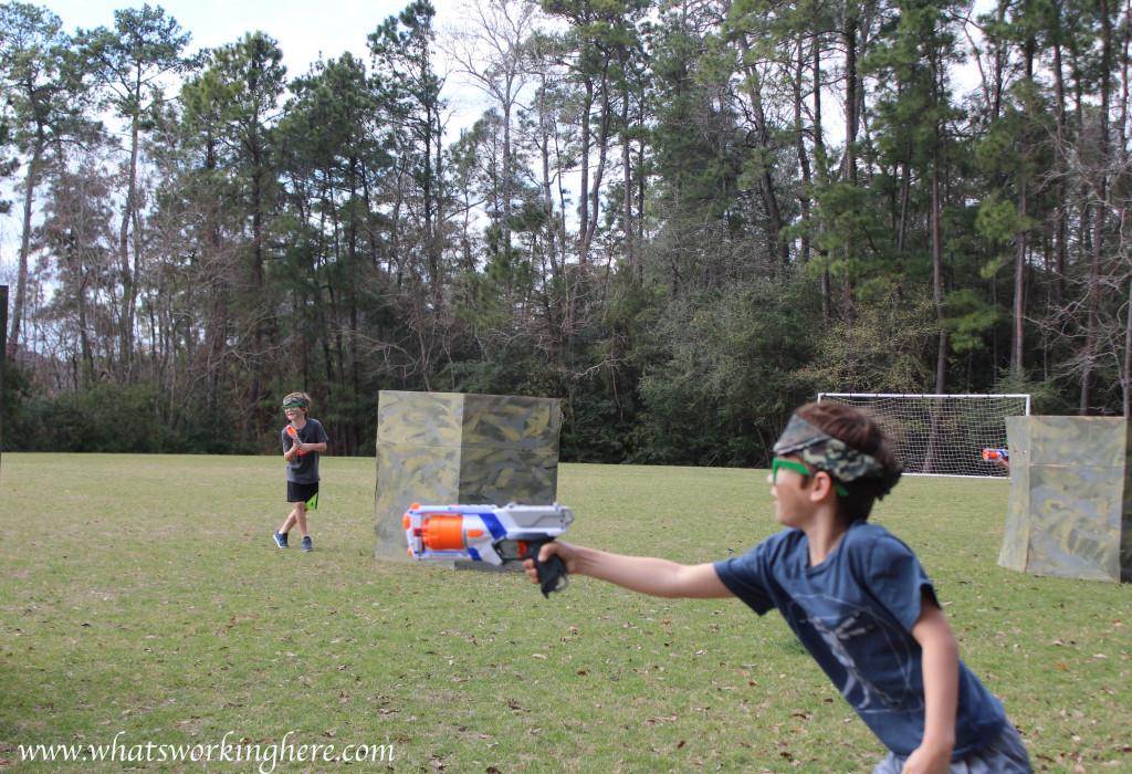 Soldier Nerf Gun Party - battle