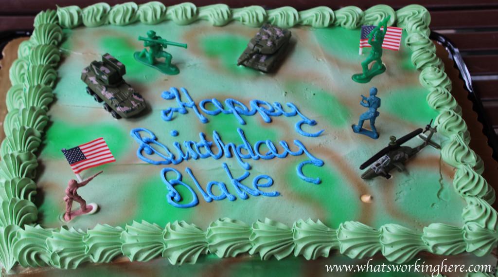 Soldier Nerf Gun Party - cake