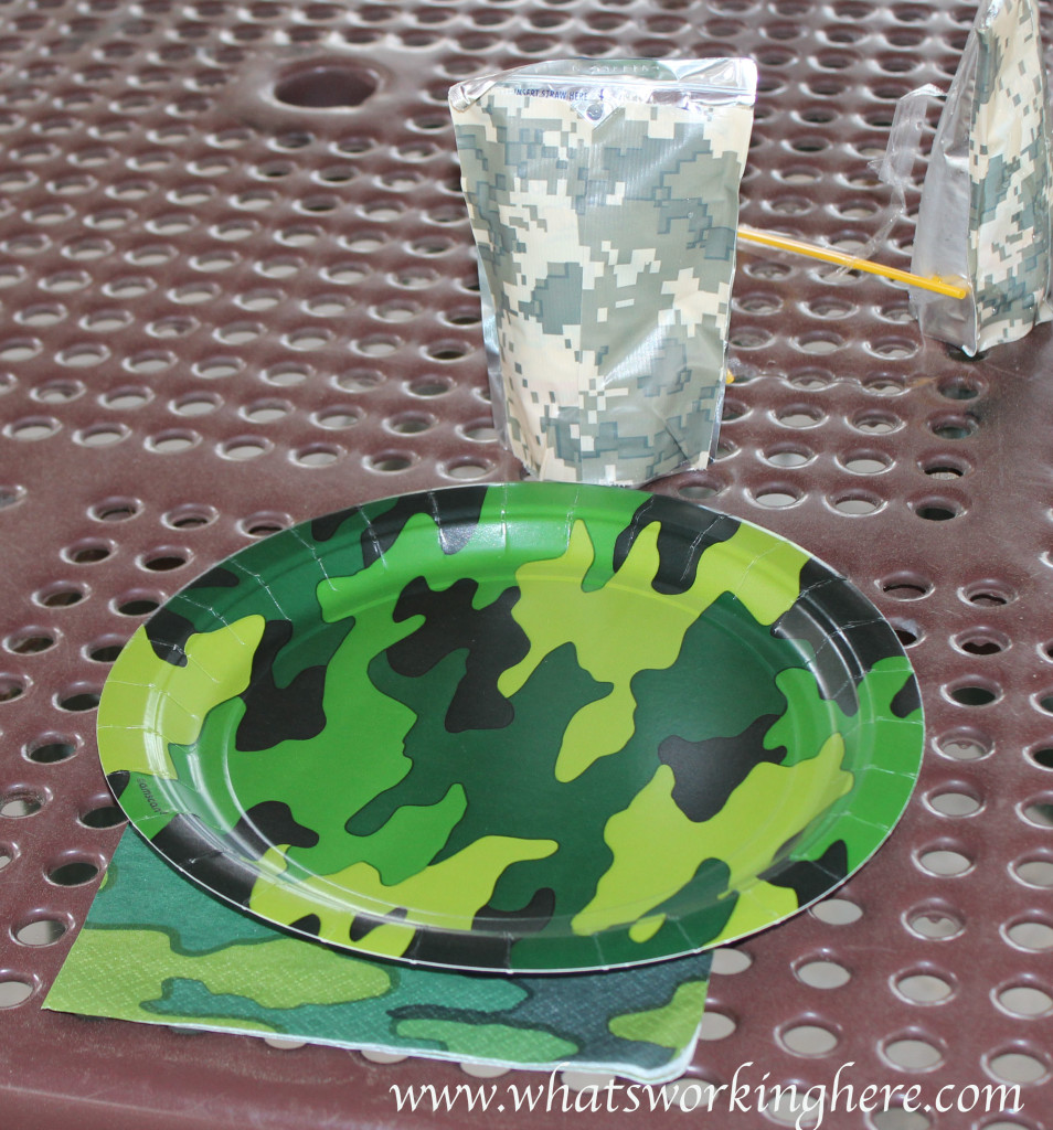 Soldier Nerf Gun Party - place setting