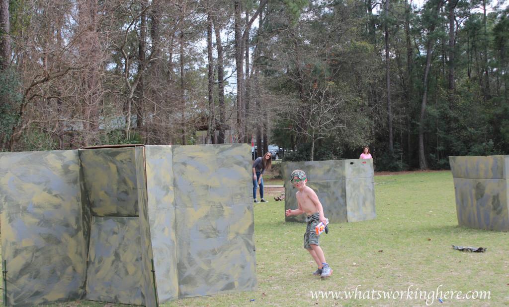 Soldier Nerf Gun Party - course