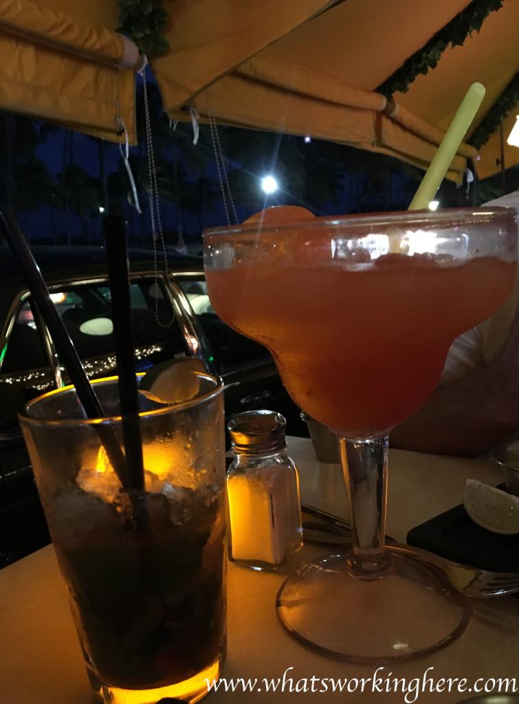 Drinks on Ocean Drive