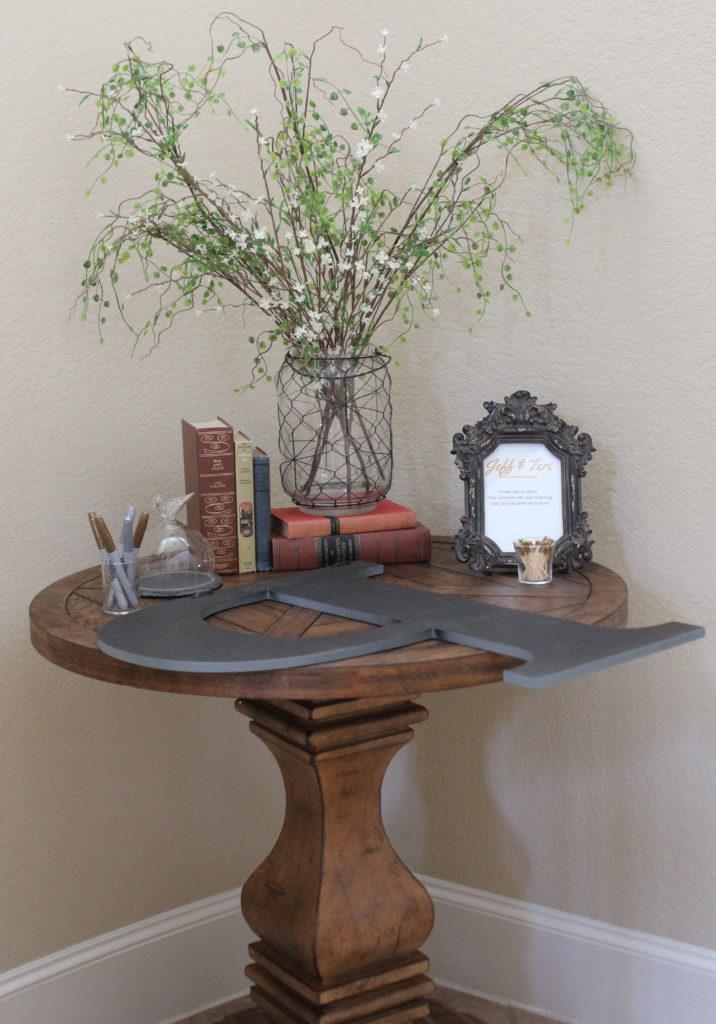 Bridal Brunch entry table