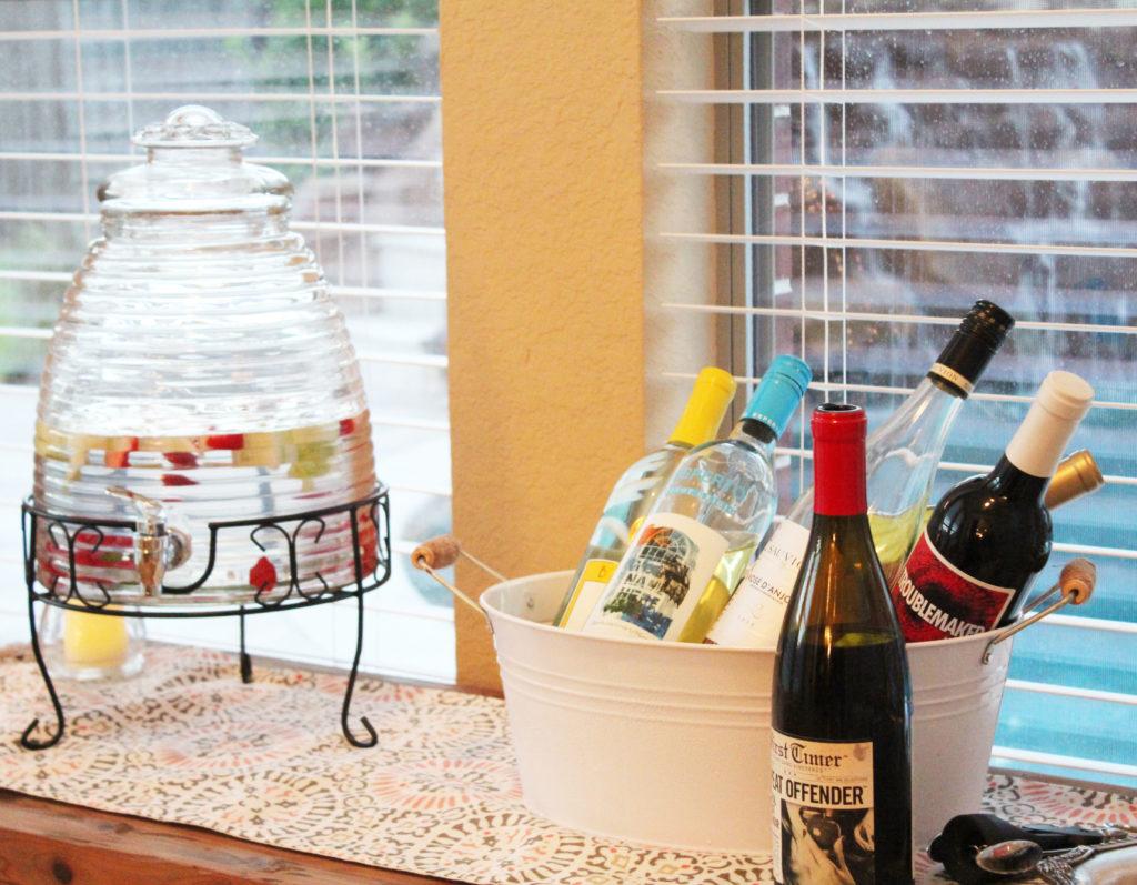 Bunco drink table