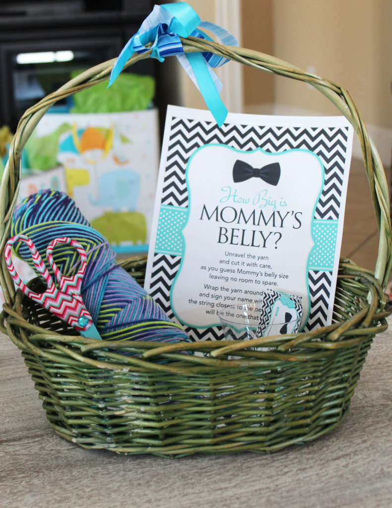 Baby Shower Games- How Big is Mommy's Belly Game