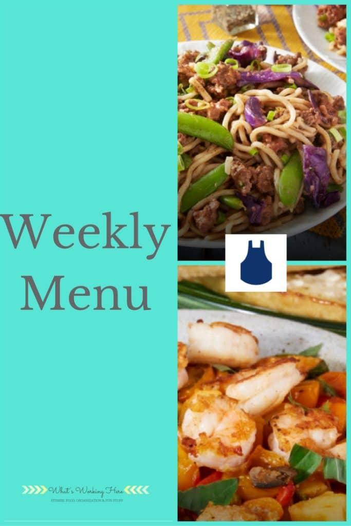 July 23rd Weekly Menu- Meal Plan Ideas