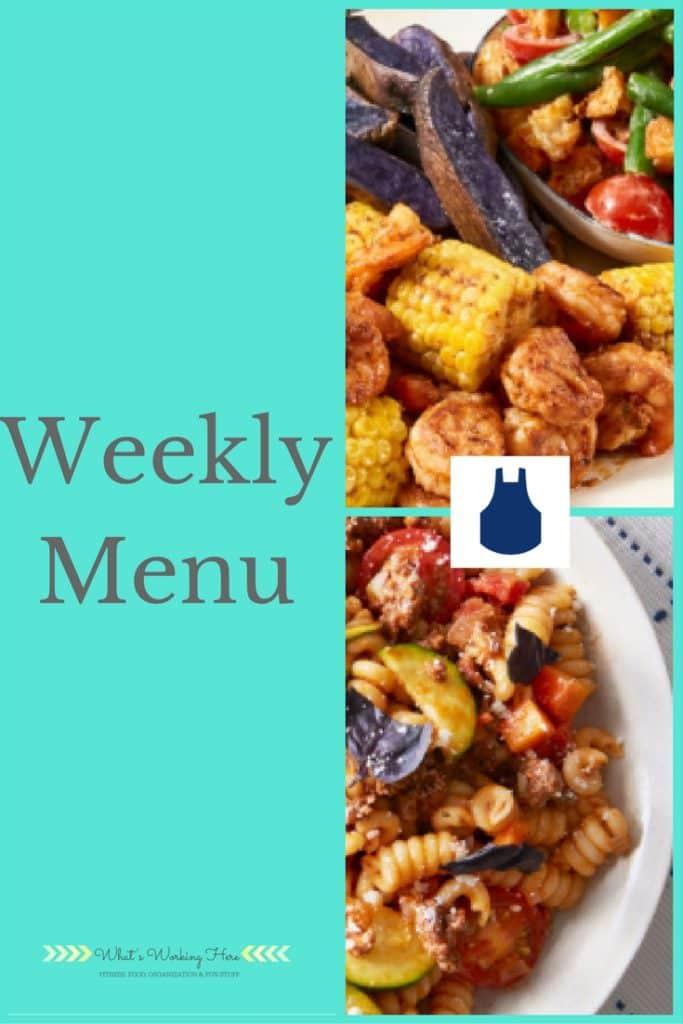 August 27th Weekly Menu- Back to School Meal Planning