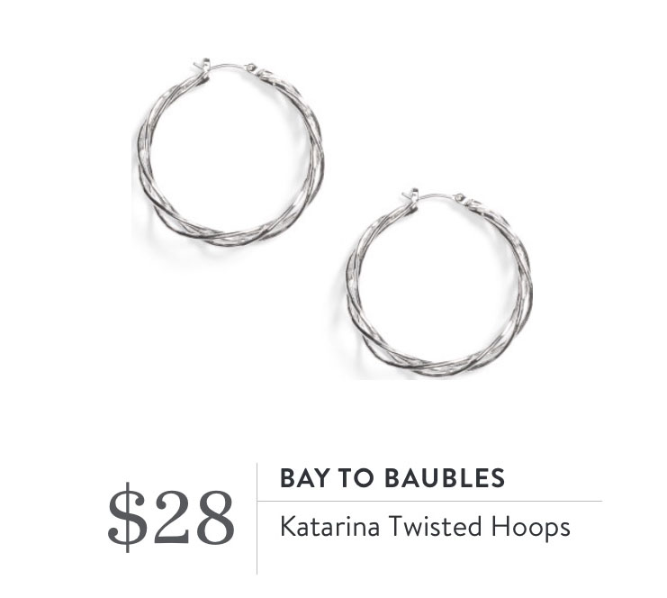 Stitch Fix Review- Bay to Baubles Katarina Twisted Hoops