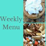 Weekly Menu 11/19/17 - Thanksgiving