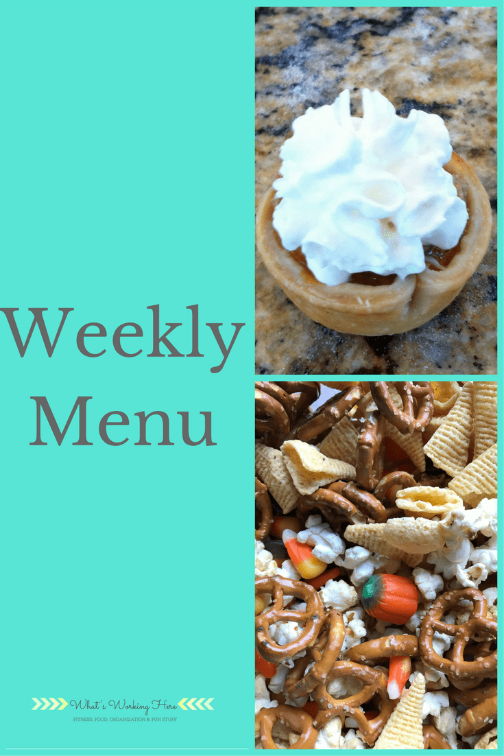 November 19th Weekly Menu - Thanksgiving