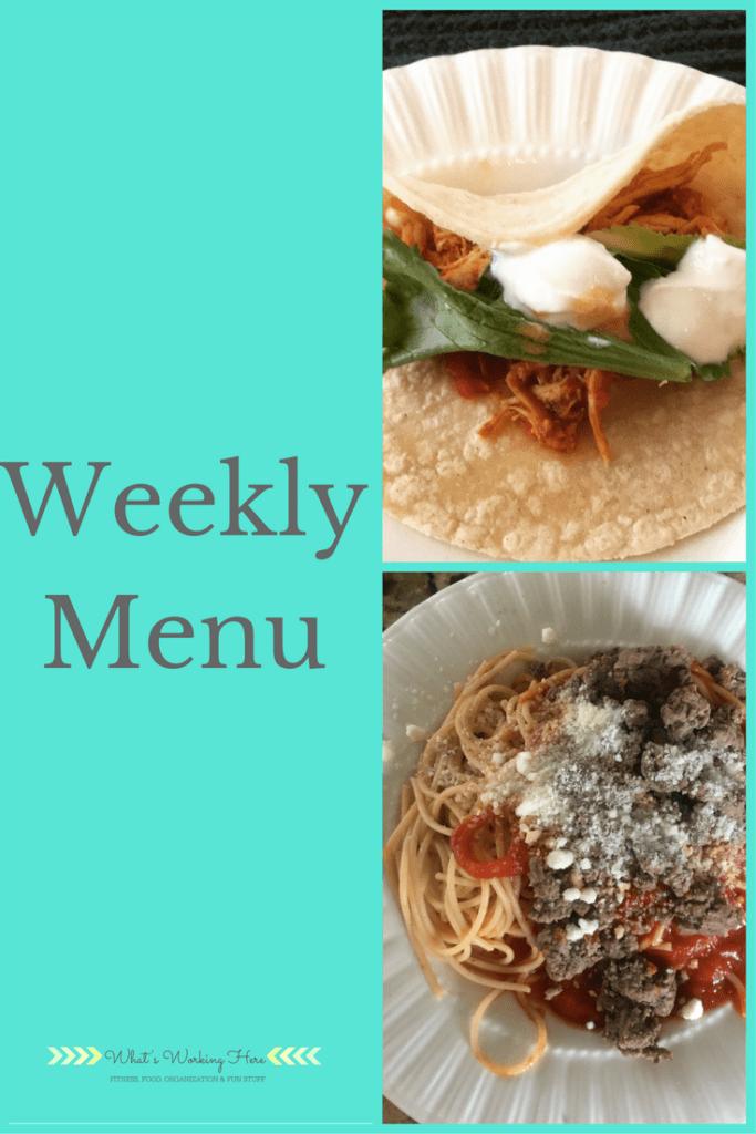 November 26th Weekly Menu - Freezer Meals