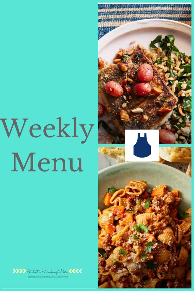 November 5th Weekly Menu
