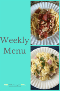 January 14th Weekly Menu- 80 Day Obsession Meal Plan