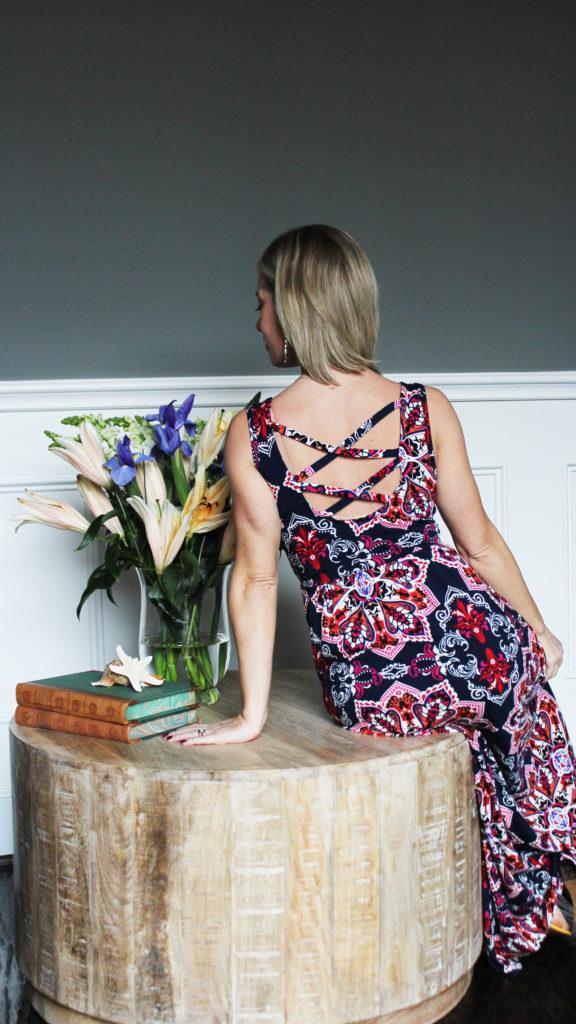 Stitch Fix -Loveappella Maxi Dress Back