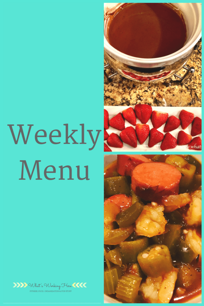 February 11th Weekly Menu - Valentine's Dinner
