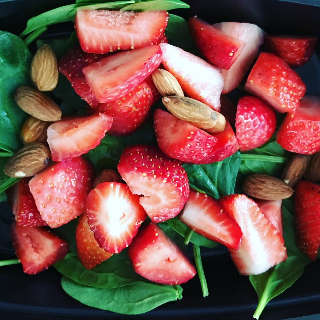 80 Day Obsession Snack Recipes- Spinach Strawberry Salad