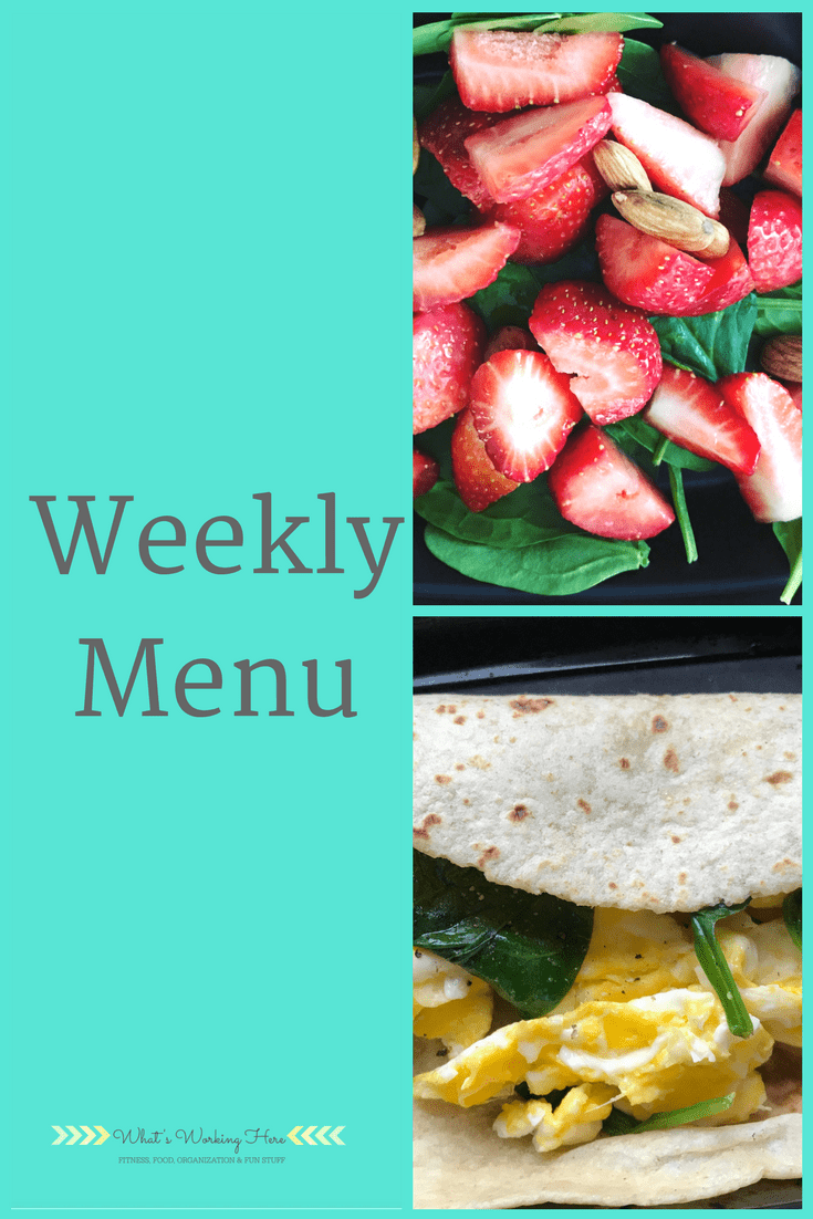 April 8th Weekly Menu -Peak Week