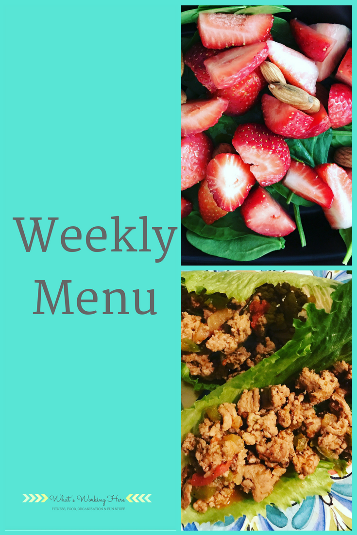 Weekly Menu -Perfect Nutrition