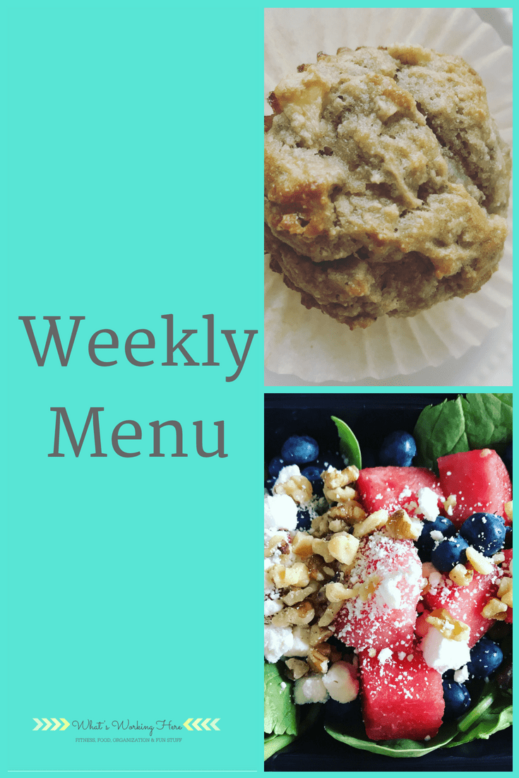 May 28th Weekly Menu - Clean Eating