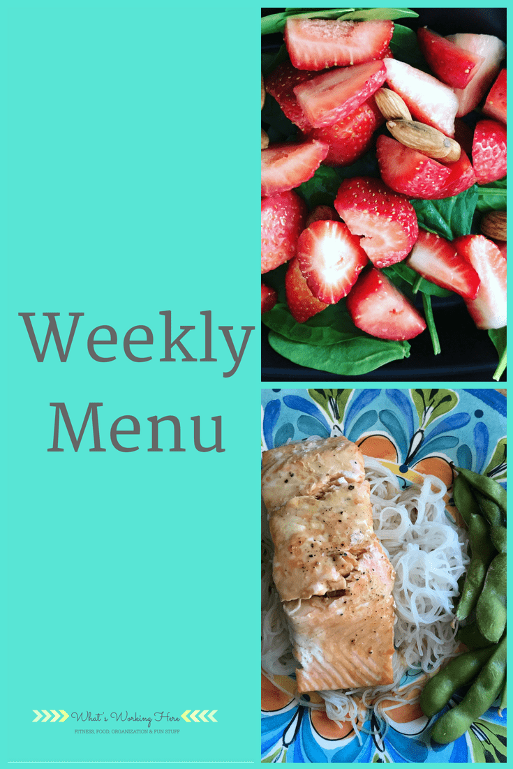 June 3rd Weekly Menu -80 Day Obsession Meal Times
