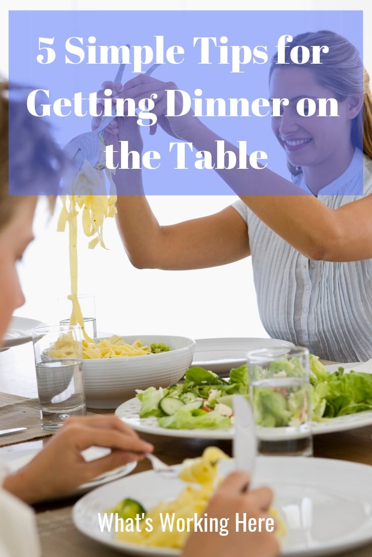 5 Tips for getting dinner on the table - family at the dinner table