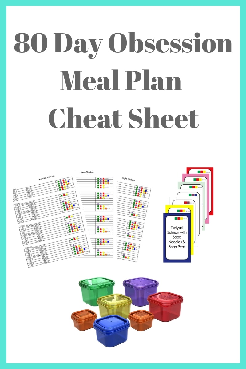 80Day Obsession Meal Plan Cheat Sheet