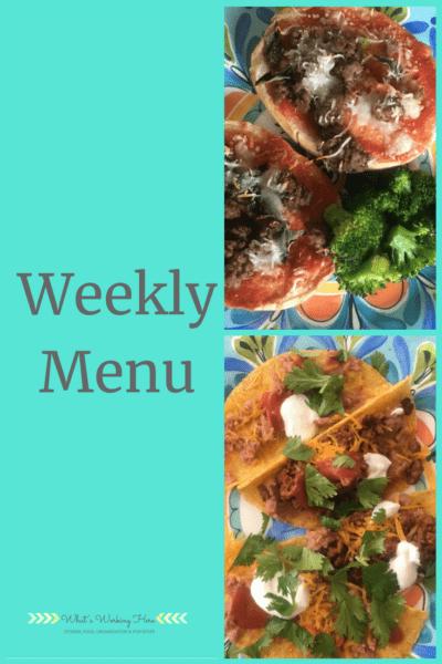 Aug 12th Weekly Menu - Healthy Kid Favorites
