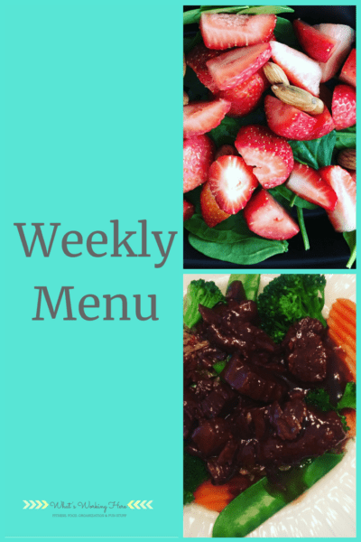 Aug 19th Weekly Menu - Back to school meals