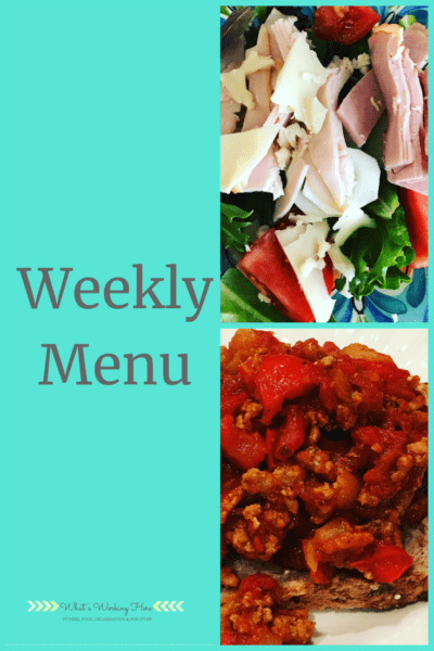 Aug 5th Weekly Menu - bunco luau