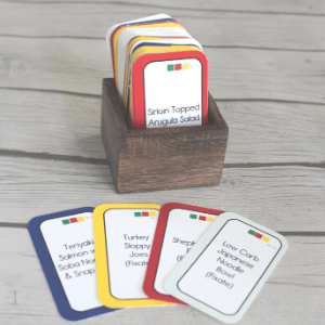 Color Combo Meal Cards for Portion Fix Meal Planning