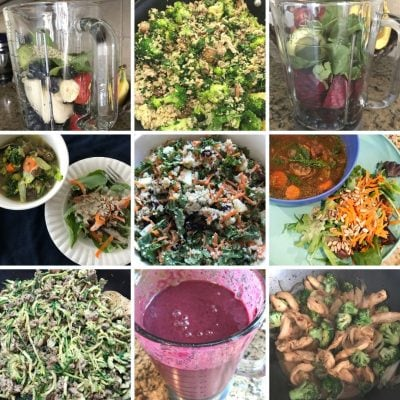 Elimination diet meal plan recipes- smoothies, soups, salads, stir fry