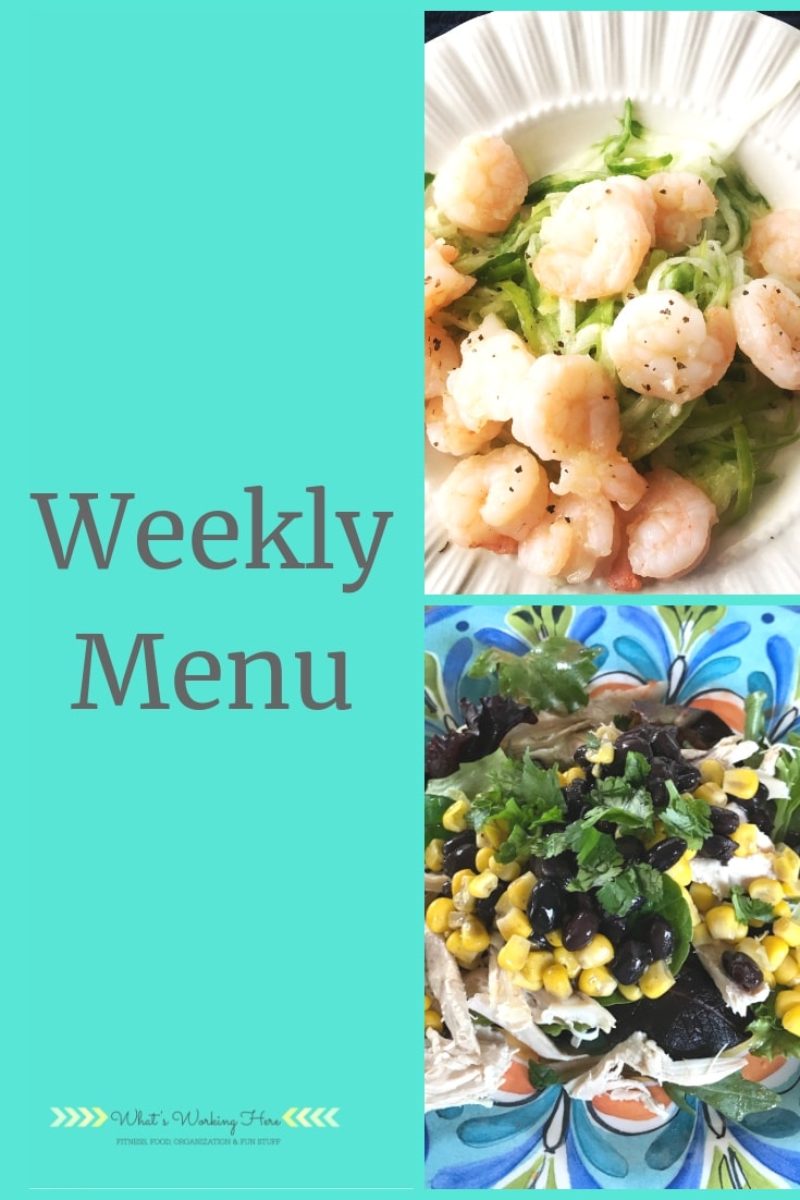 Bikini Ready Meal Plan - shrimp & zoodles, healthy southwest chicken salad