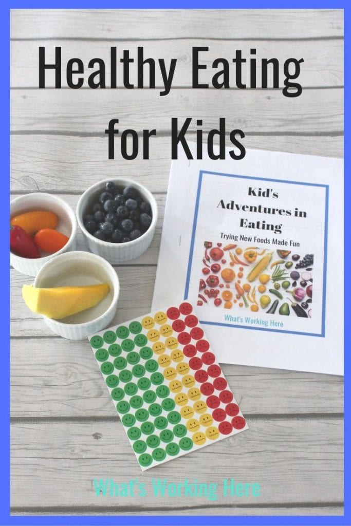 Healthy Eating for Kids - Adventures in Eating Food Tracker