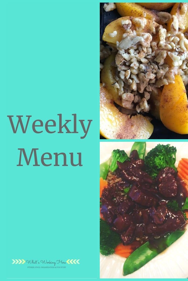 Jan 20th Weekly Menu - Transform 20 Meal Plan A
