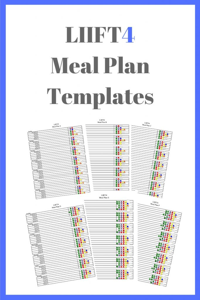LIIFT4 Meal Plan & Meal Ideas - What's