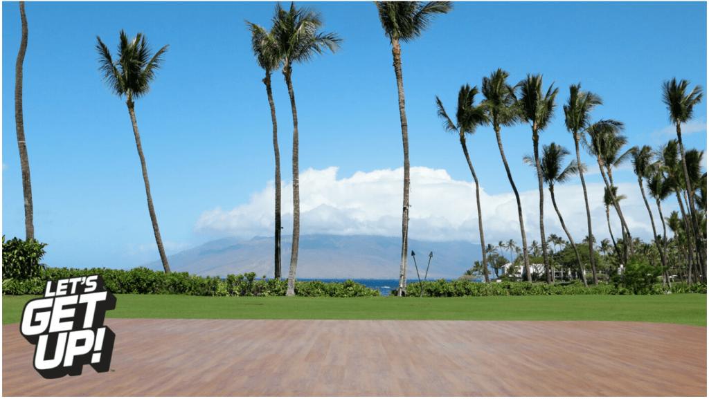 Let's Get Up set in Maui