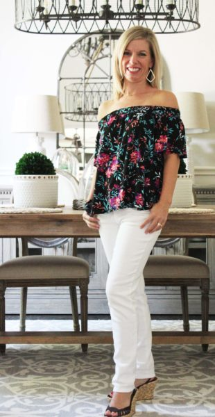 Stitch Fix Summer To Fall Styles Loveappella Callalily top cosmic blue love jean