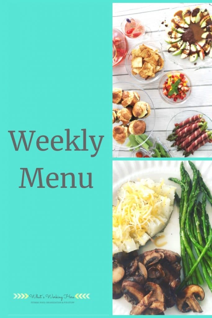 May 12 Weekly Menu - mother's day menu
