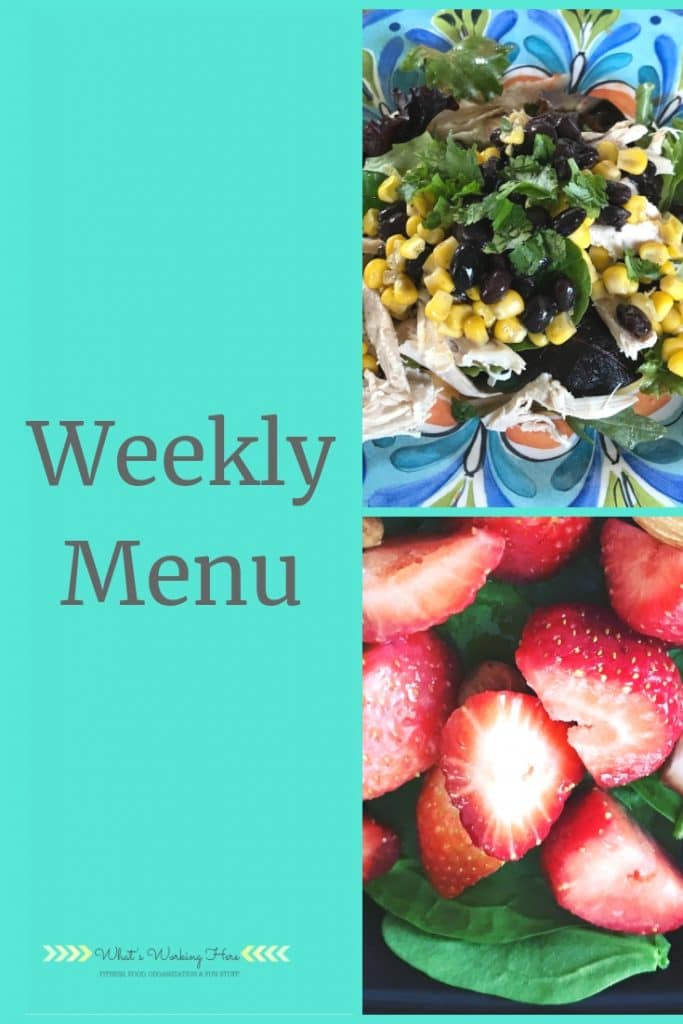 May 5 Weekly Menu - Southwest Chicken Salad, Strawberries & Spinach