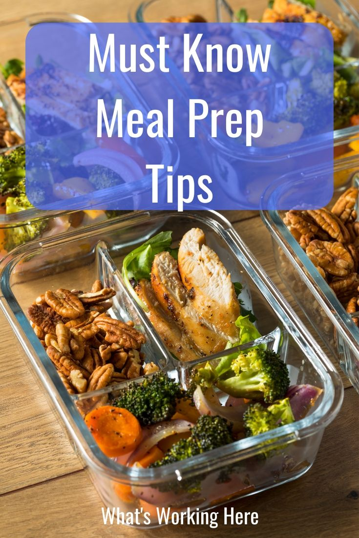 Must Know Meal Prep Tips - glass meal prep containers