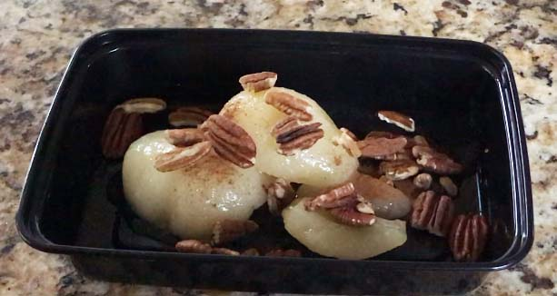 Pears & pecans with a dash of cinnamon makes a tasty healthy snack