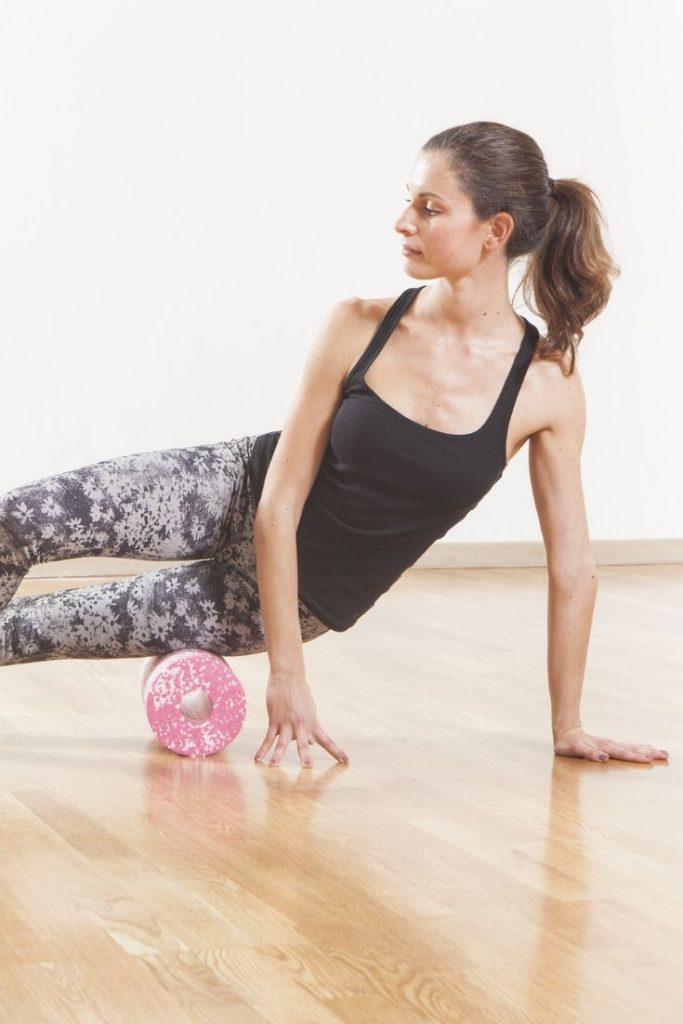 Self Care for Fitness - Foam Roll - woman foam rolling