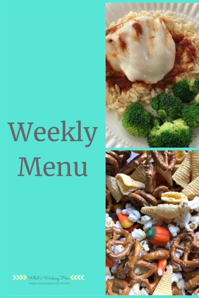 Sept 16 Weekly Menu - healthy travel snacks #whatsworkinghere #mealplanning #weeklymenu