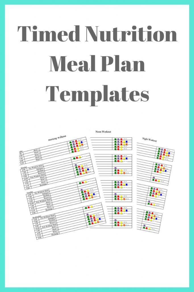 TImed Nutrition Meal Plan Templates